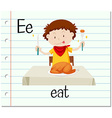 Flashcard letter E is for eat vector image vector image
