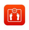 floor scales icon digital red vector image vector image