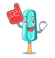 foam finger ice cream shaped stick on mascot vector image vector image