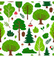 forest tree pattern vector image vector image