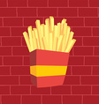 french fries fasfood vector image vector image