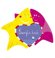 funny starfishes vector image vector image