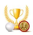 golf achievement award sport banner vector image
