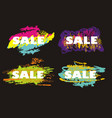 grunge sale poster set with an color inky dribble vector image