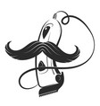 hair clipper and mustache vector image
