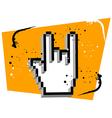 Hand Cursor Metal Music vector image