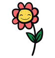 happy flower on white background vector image vector image