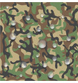 icon of waterproof camouflage fabric vector image vector image