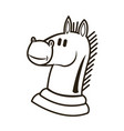 knight chess horse piece strategy business vector image
