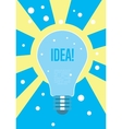 Light bulb idea concept Creative thinking vector image vector image