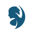 man hairstyle sign vector image vector image