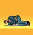 man lies hurts stomach vector image