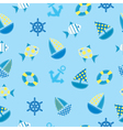 marine kid seamless pattern vector image