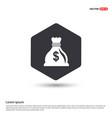 money bag icon hexa white background icon template vector image