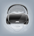 optical head-mounted display vector image vector image