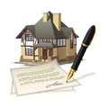 Paperwork at home vector image vector image