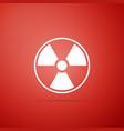radioactive icon radioactive toxic symbol vector image