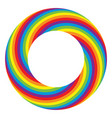 rainbow round wheel circle vector image vector image