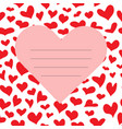 red valentine s day card vector image vector image