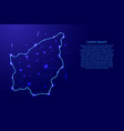 san marino from the contours network blue vector image