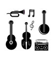 set cornet with manjo and guitar with violin and vector image vector image