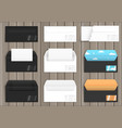 set of various paper envelopes vector image vector image