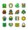 st patricks day icons set vector image vector image