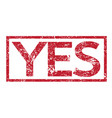 stamp text yes vector image vector image