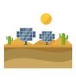 Sun solar energy vector image vector image