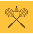 The badminton icon Sport symbol Flat vector image