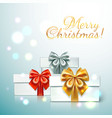 three gift boxes with with different colors of vector image vector image