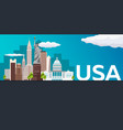 travel banner to usa flat vector image vector image