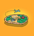 travel tourism concept pizza planet earth and vector image vector image