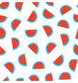 watermelon seamless pattern watermelons vector image vector image
