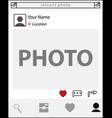 website clean template vector image vector image