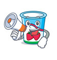 with megaphone yogurt character cartoon style vector image vector image