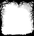 Black Silhouette of a Forest vector image