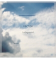 Fly on abstract blurry sky background vector image
