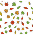 autumn colorful tree leaves seamless pattern vector image