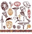 Africa Doodle Set vector image