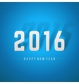 Happy New Year 2016 3d message vector image