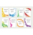 Abstract template set for brochures corporate