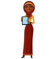 arab egypt business woman showing on the tablet vector image vector image
