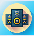 audio music icon and media speaker icon vector image vector image