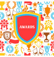awards and trophy background vector image vector image