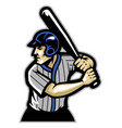 baseball player ready to hit the ball vector image vector image