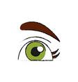beautiful eye cartoon vector image