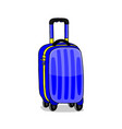 blue travel suitcase vector image