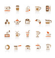 coffee and tea related icons vector image vector image