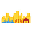 colored cityscape of madrid vector image vector image